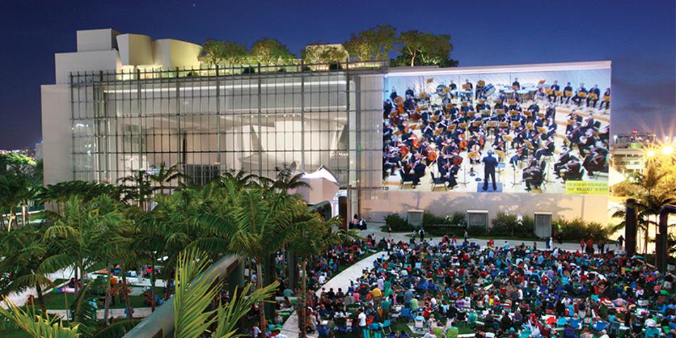 The New World Symphony at an outdoor concert.