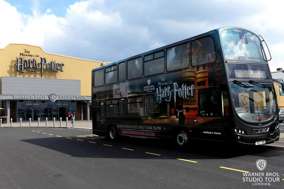 Warner Bros. Studio Tour - The Making of Harry Potter buses being used to help NHS workers