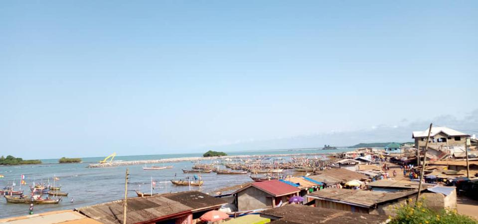 The fishing port of Axim in south-western Ghana.