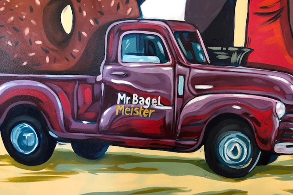 Mr. Bagel Meister is a one of a kind bagel, breakfast and lunch brand created by Phil Santomassi.