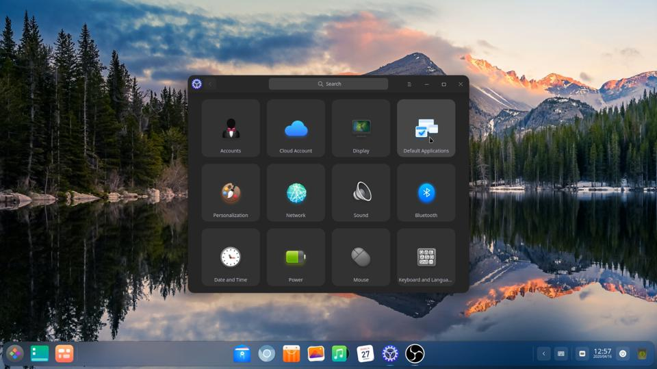 The System Settings menu for Deepin 20 has a completely different look now