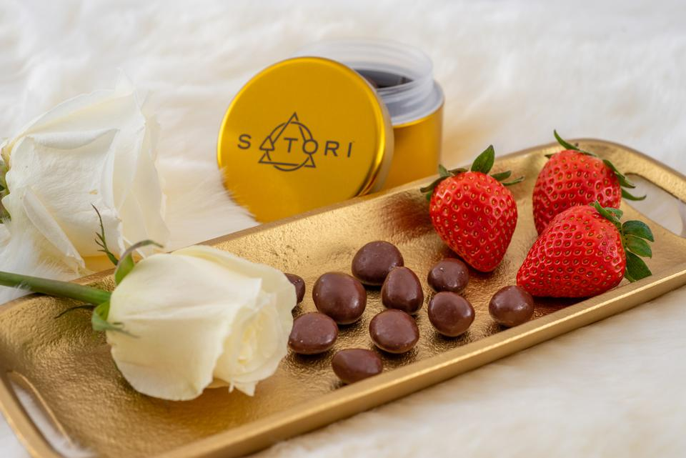 New fast acting cannabis-infused Satori strawberry chocolates. Photo courtesy of CannaCraft