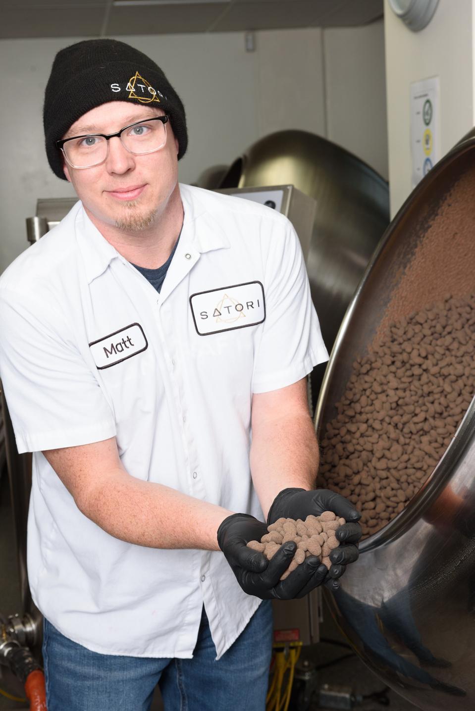 Matt Kulczycki and his chocolates