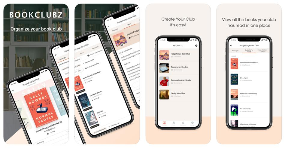 The Bookclubz mobile app