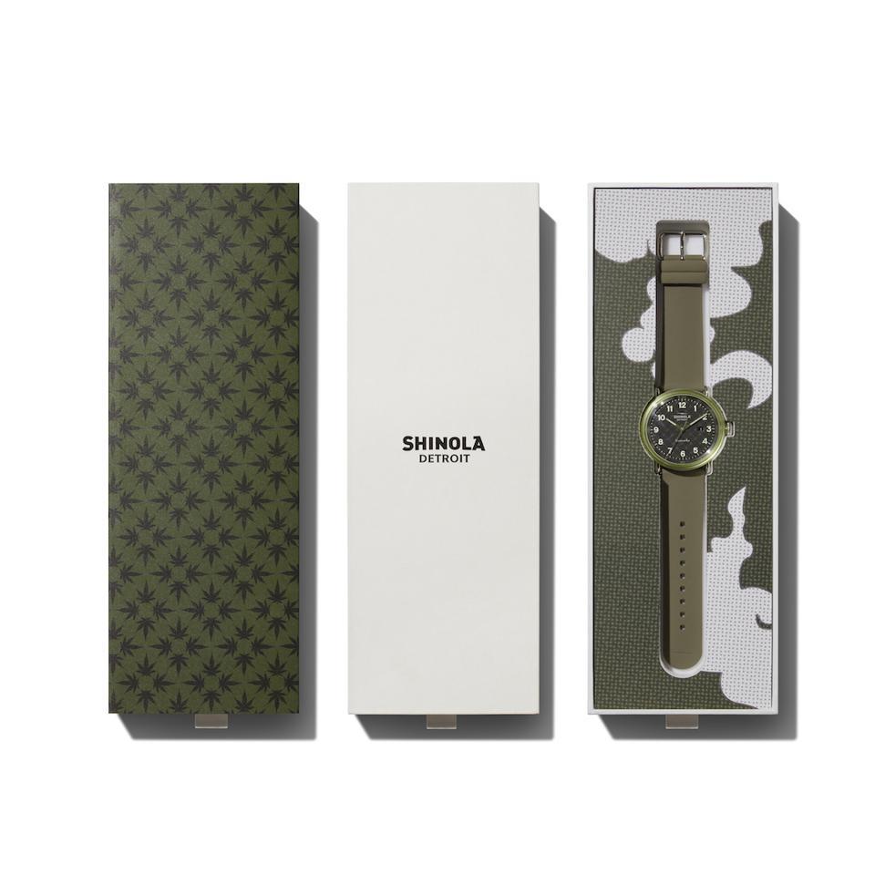 Shinola, Detrola, 4/20, four twenty, cool watches, luxury cannabis, Common, cannabis