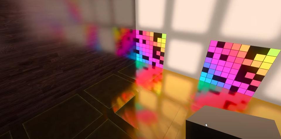 Rikki Knight Colorful Rainbow Gradient Design Square Fridge Magnet
