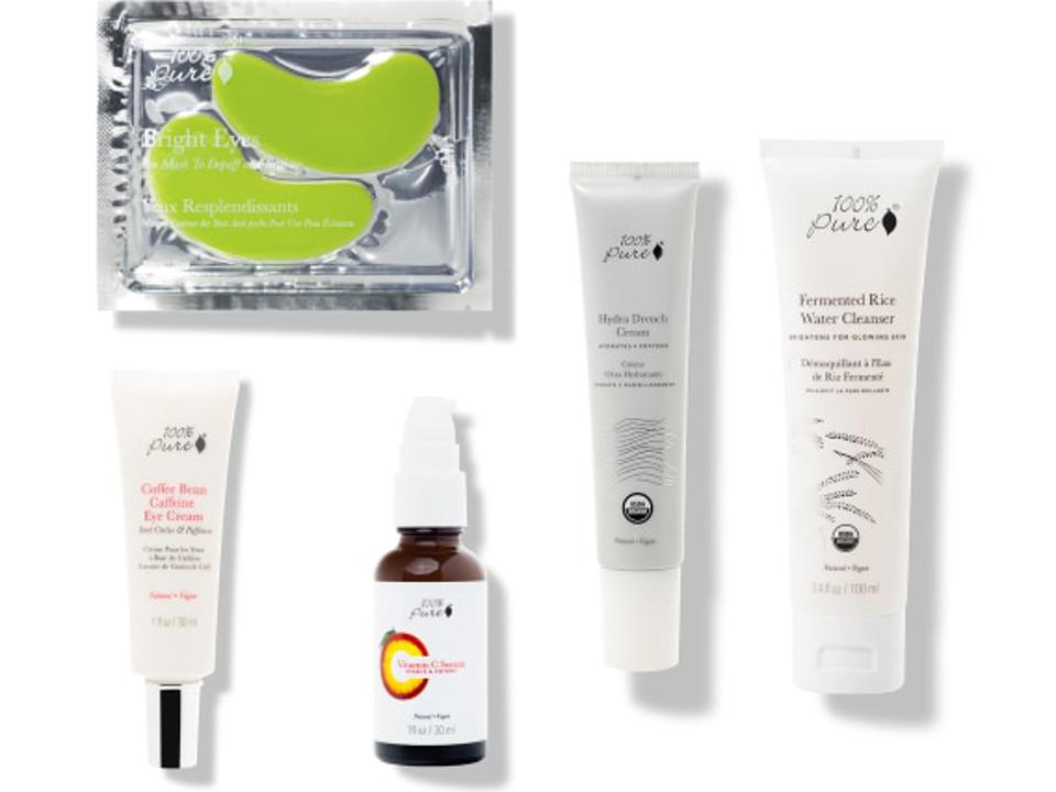 mother's day gift guide. all natural spa set. 100% pure