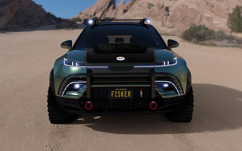 The Fisker Force-E off-road electric vehicle.