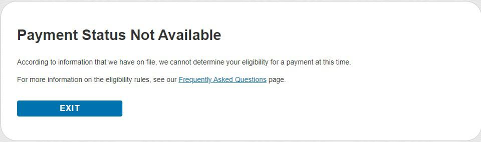 World Famous ″Payment Status Not Available″ Message