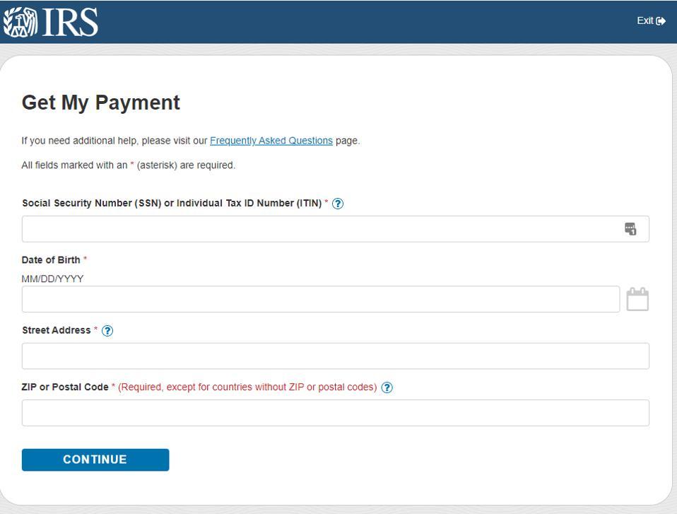 get my payment info needed