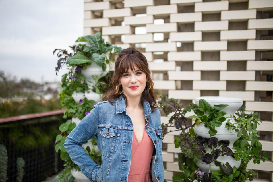 Zooey Deschanel at the Lettuce Grow launch party