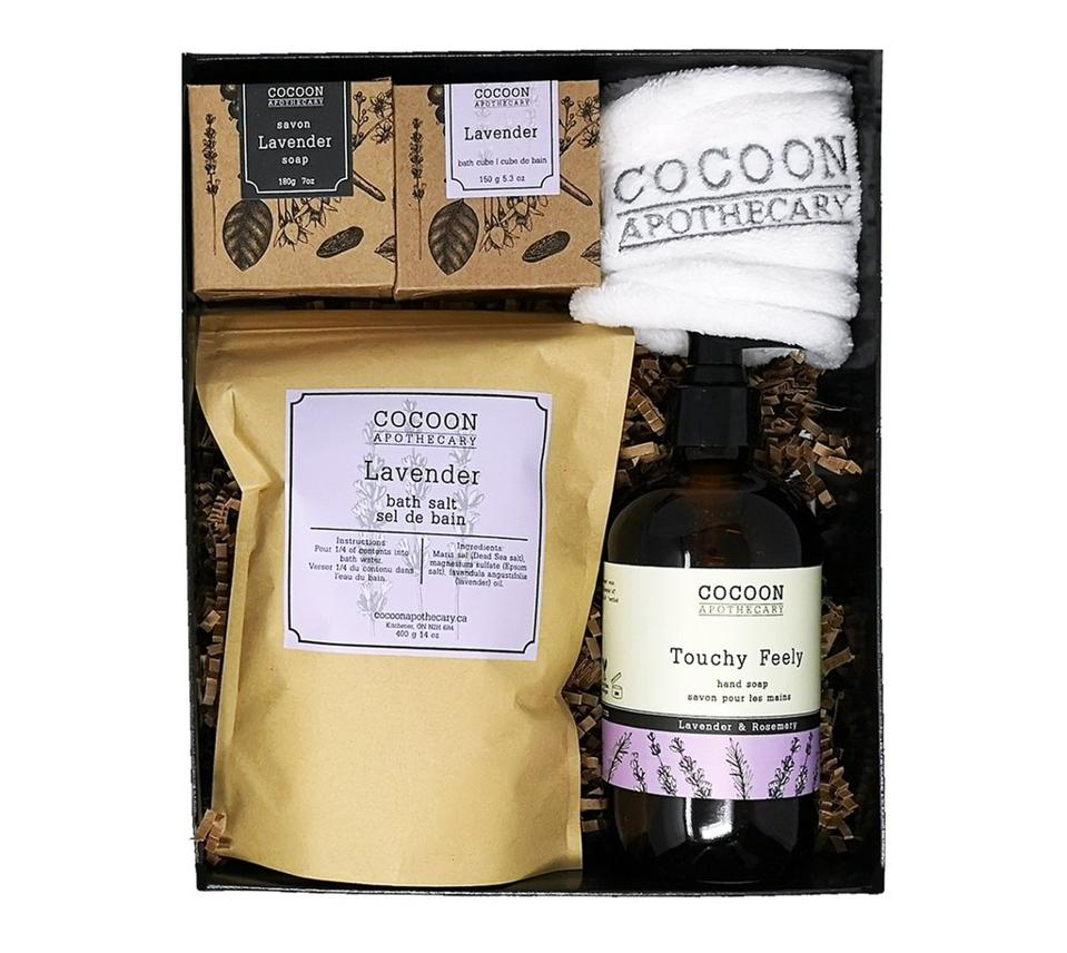 all-natural spa sets. mother's day gift guides.