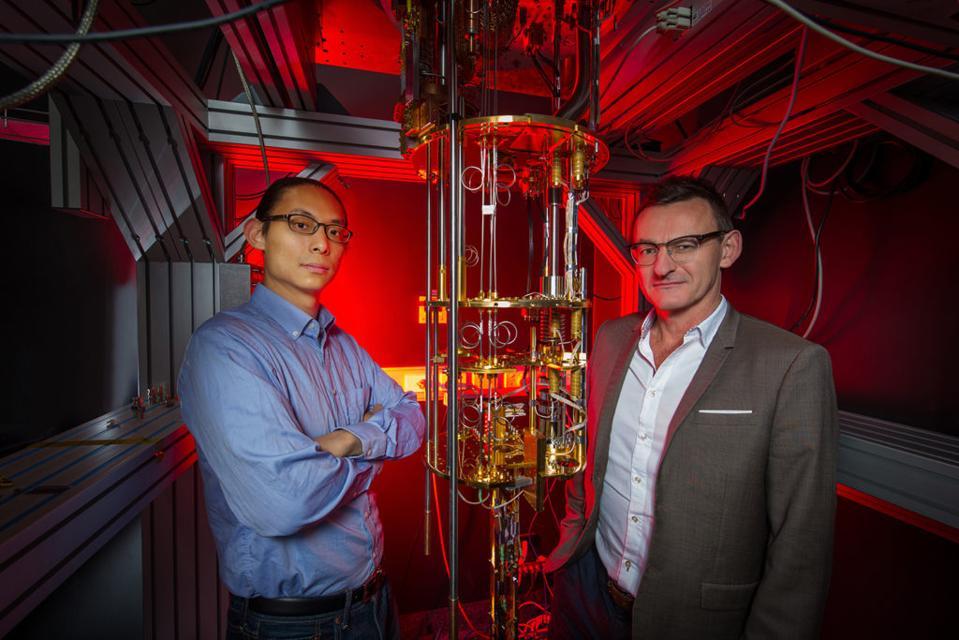 Dr. Henry Yang and Professor Andrew Dzurak