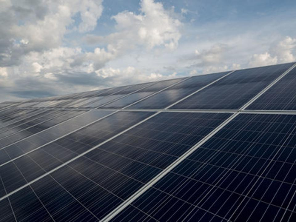 Solar panels at DTEs Lapeer Solar Park