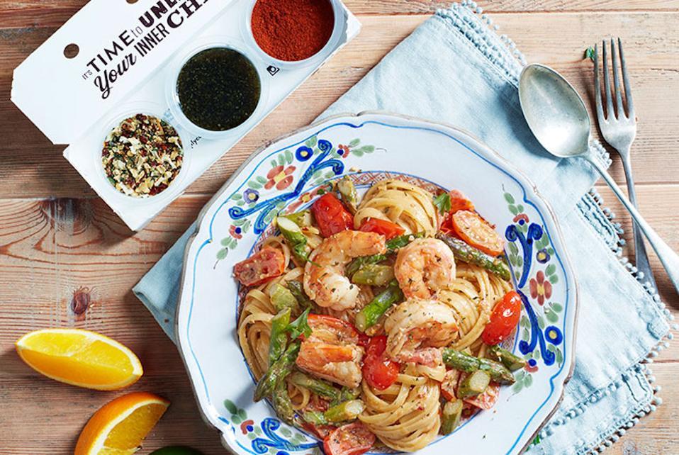 prawns and pasta