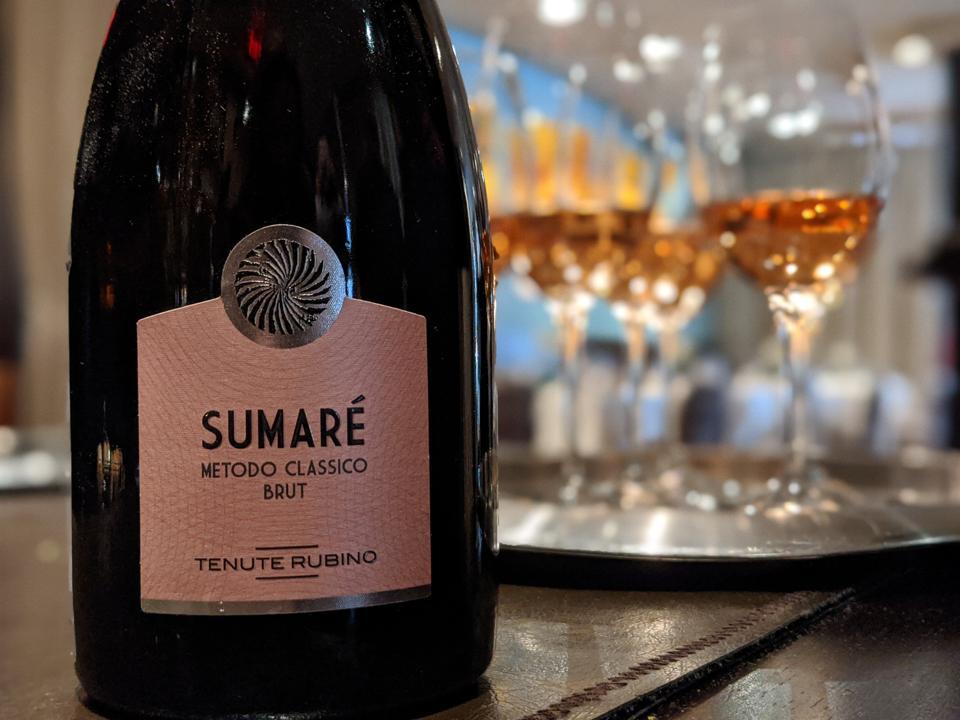 2015 Tenute Rubino, 'Sumaré', Metodo Classico Sparkling Rosato (Rosé) Brut