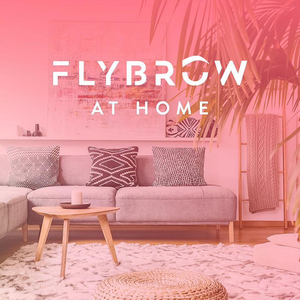 FLY BROW at home.