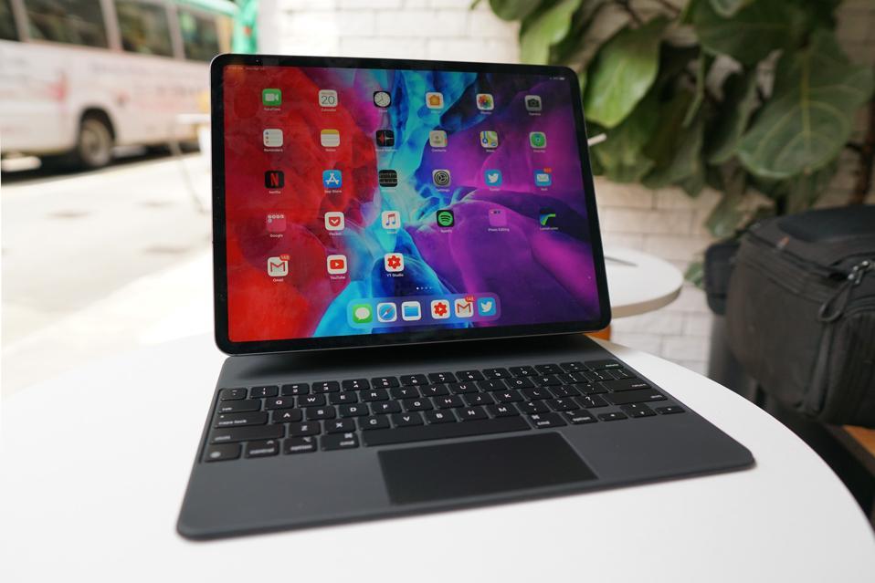 The Magic Keyboard with the iPad Pro 2020.