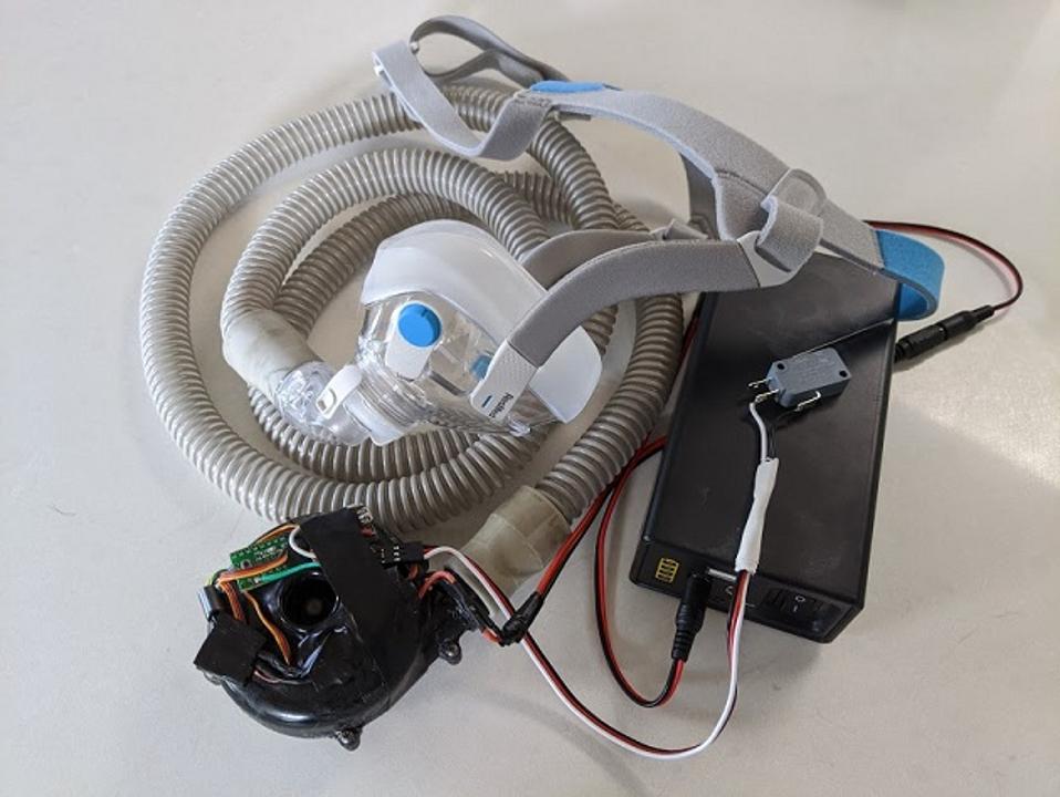Hacked ventilator