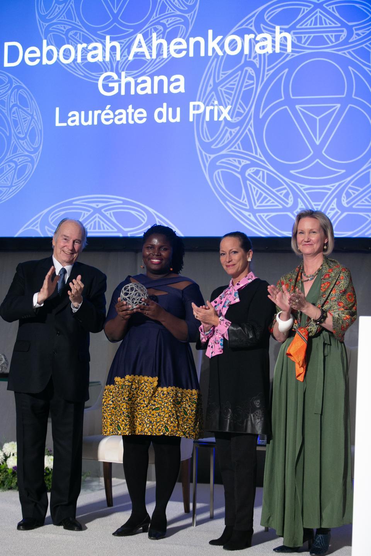 His Highness, the Aga Khan, Princess Zahra Aga Khan, Meredeith McGhie and award winner, Deborah Ahenkorah