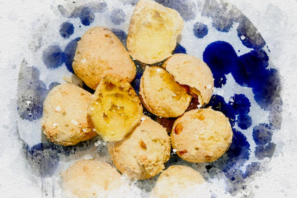 Oven-baked cheese bites from Brazil