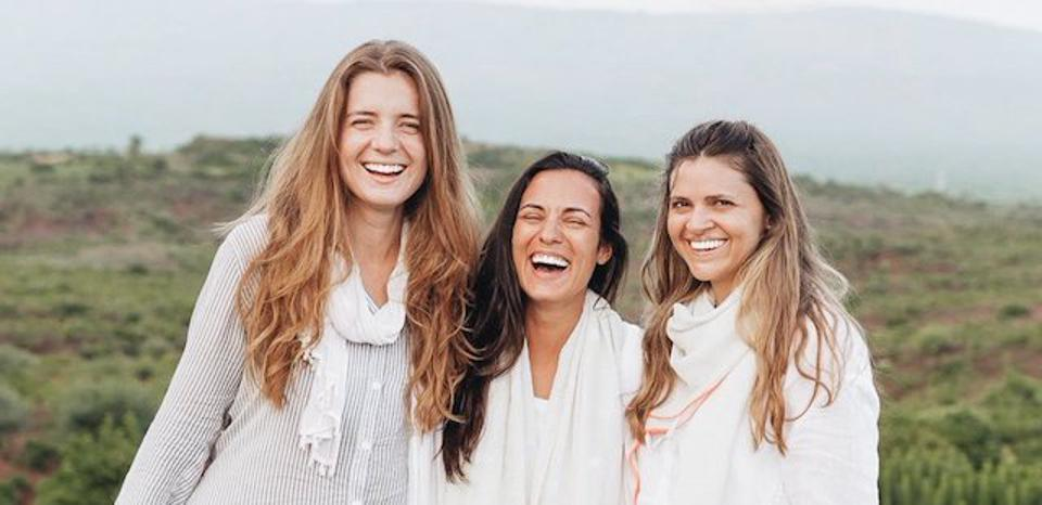 The founders of Naya Traveler, Sarah Casewit, Marta Tucci and Sofia Mascotena (from left to right), journeying through Ethiopia