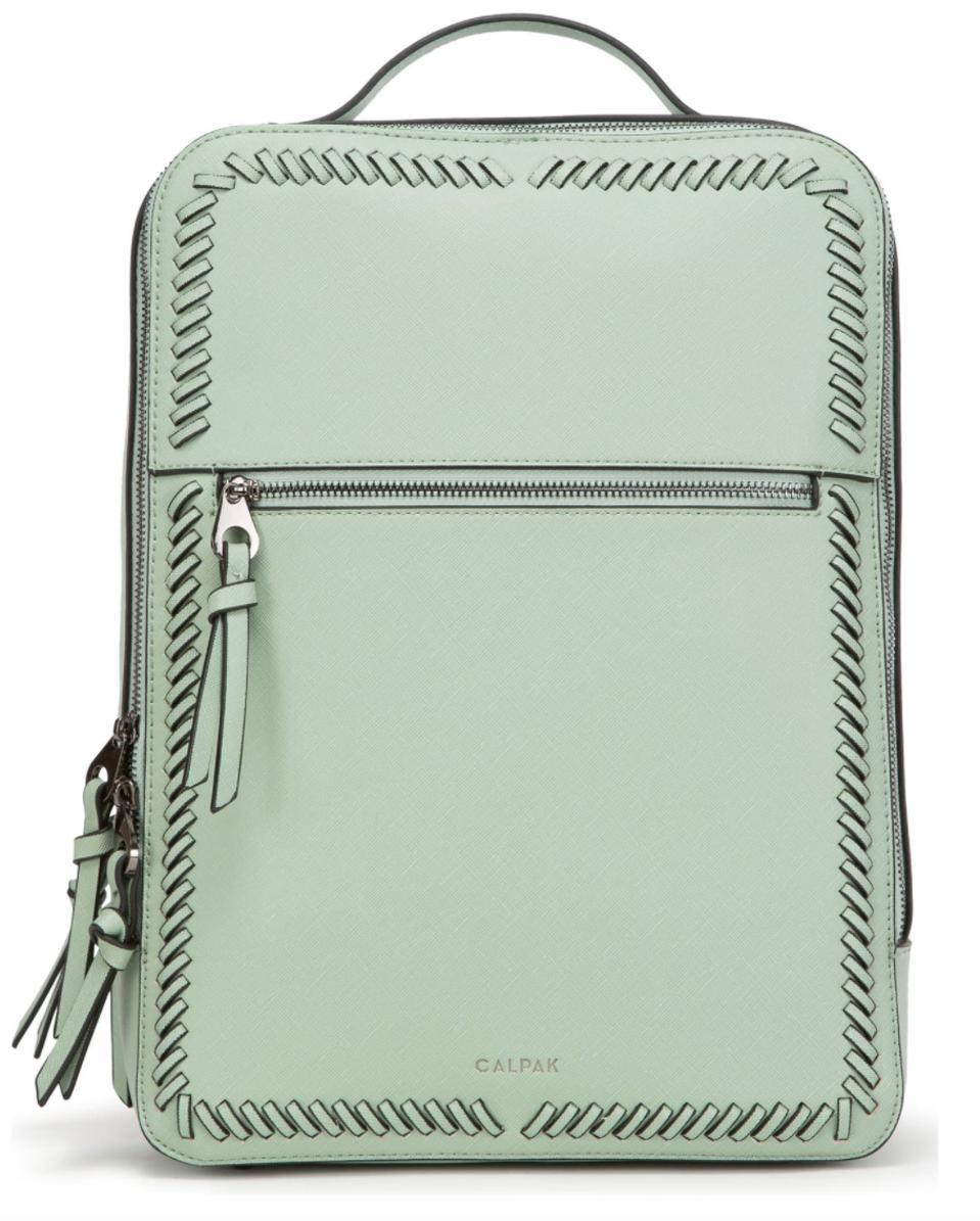 Calpak Kaya Faux Leather Laptop Backpack