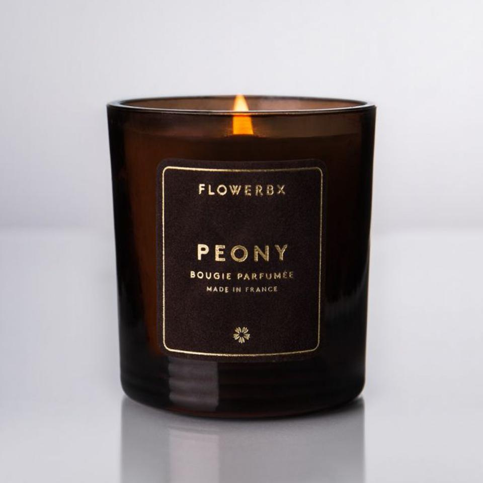 Peony Scented Candle by FLOWERBX