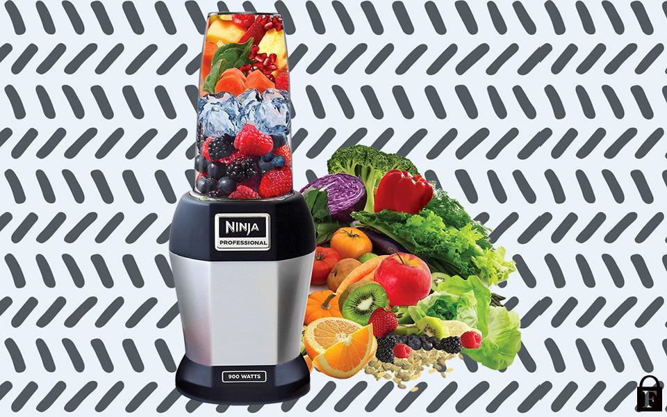 Ninja BL456 Nutri Pro Compact Personal Blender, with 18 oz. and 24 oz. To Go Cups, in a Black and Silver Finish