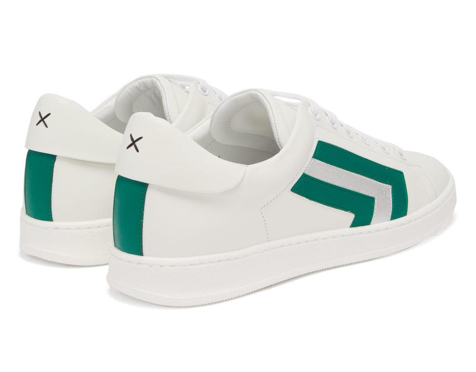 Super 3 Striped Leather Trainers by Valextra