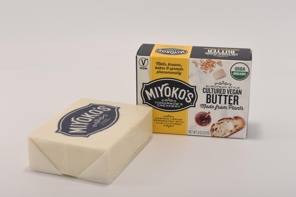 Miyoko's European-Style Cultured Vegan Butter is made 100% from plants.