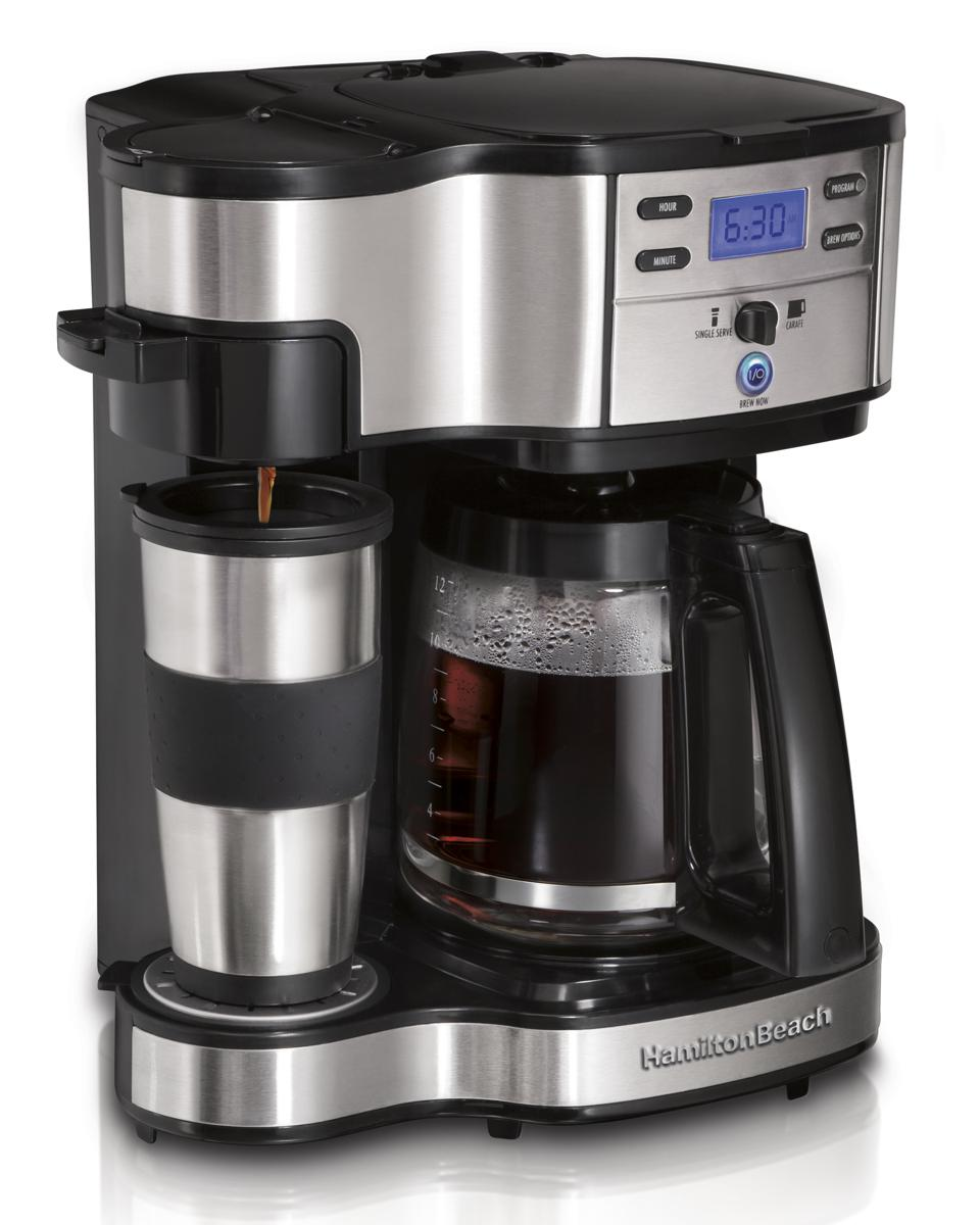 Hamilton Beach 2-Way Brewer, Single Serve Coffee Maker and Full 12-Cup Coffee Pot
