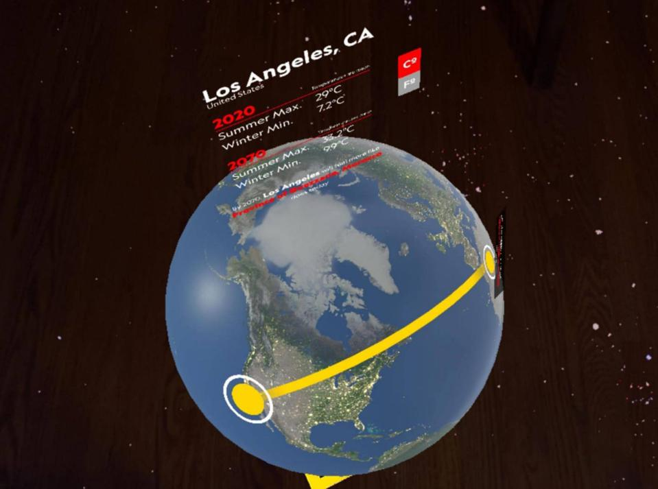Earth in 2070 Augmented Reality climate predictions for Los Angeles