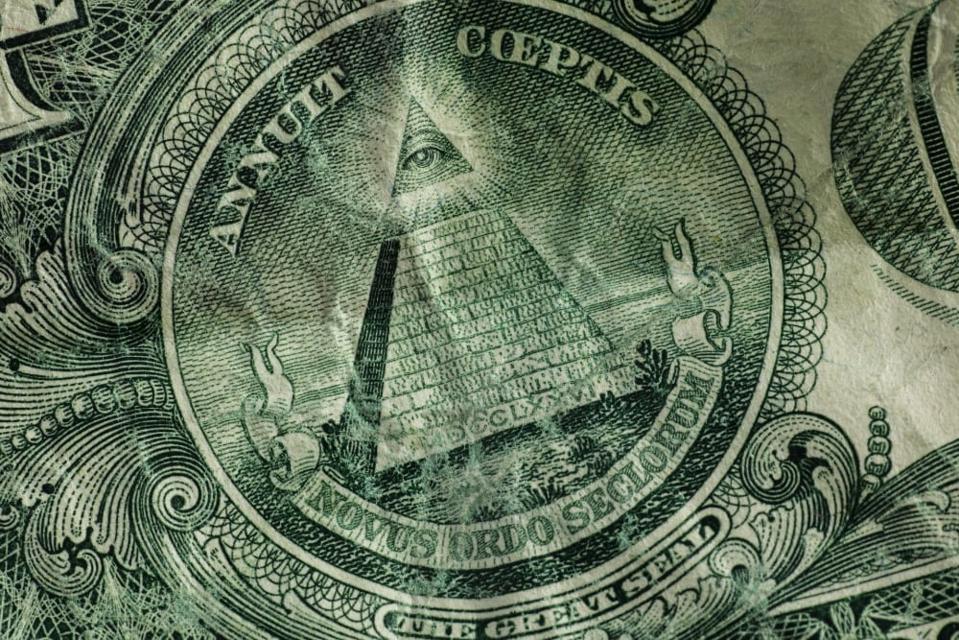 A close-up of an American dollar bill