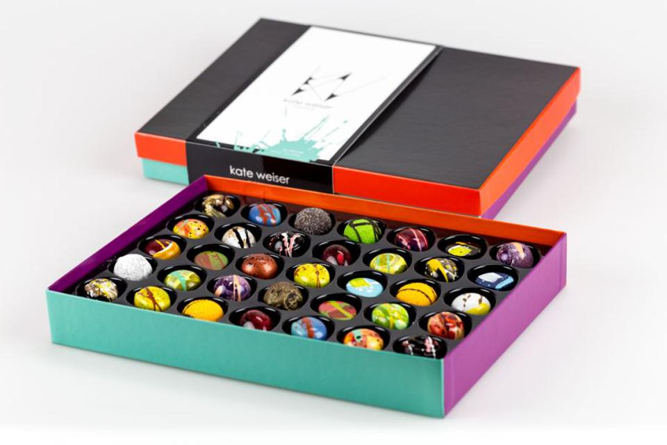 The 35-piece Artist Collection by Kate Weiser Chocolate
