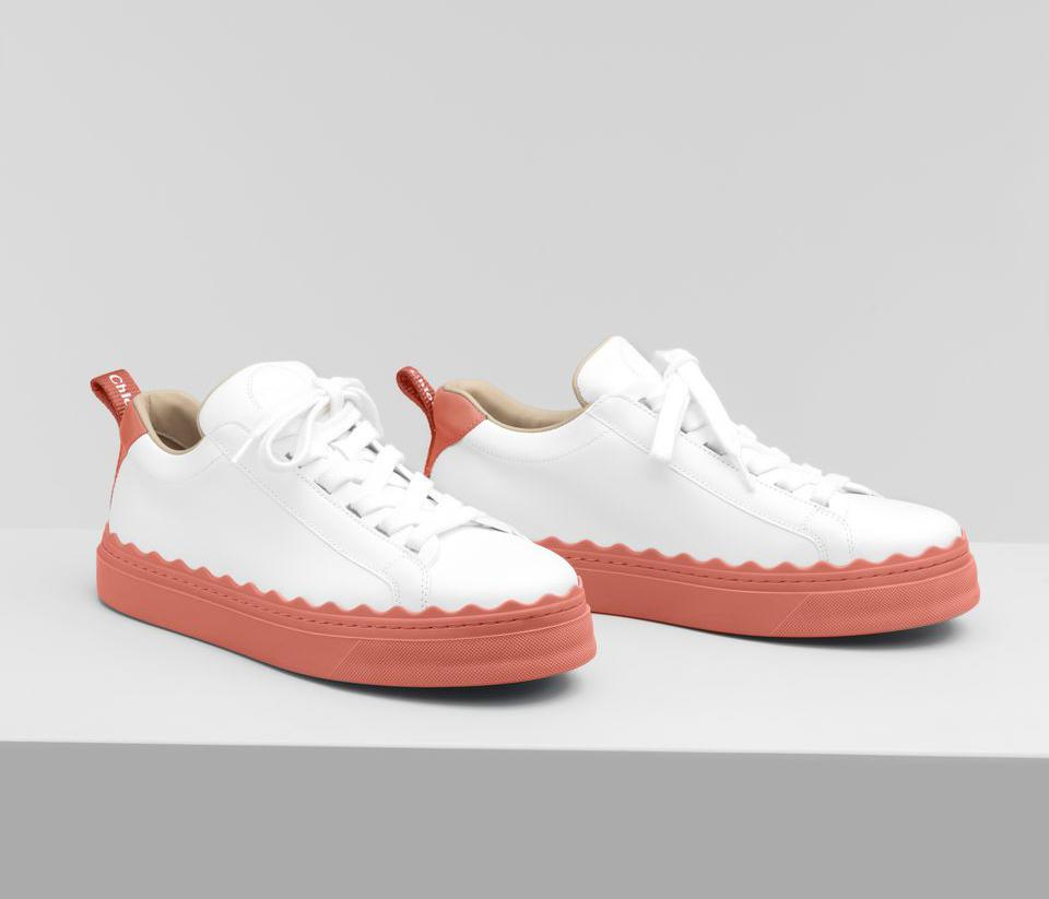 Lauren Leather Sneakers by Chloé