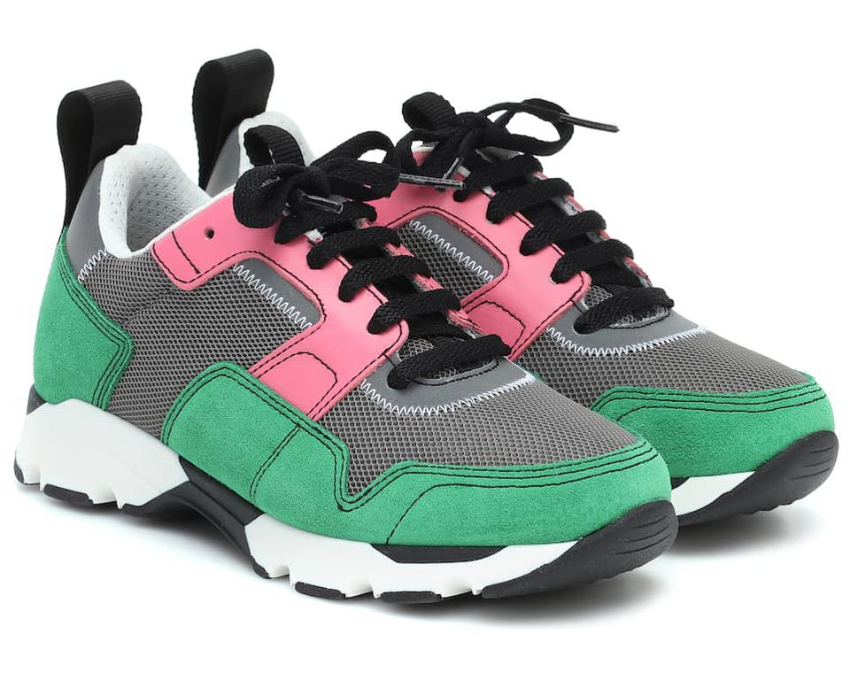 Mesh and Suede Sneakers by Marni