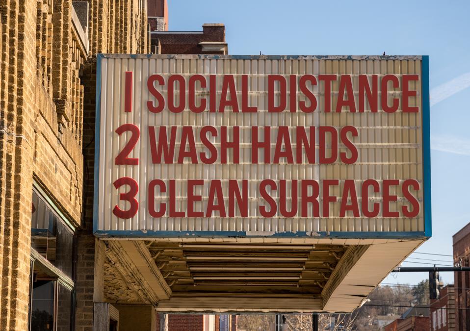 Recommendations for avoiding Coronavirus on downtown Main Street cinema