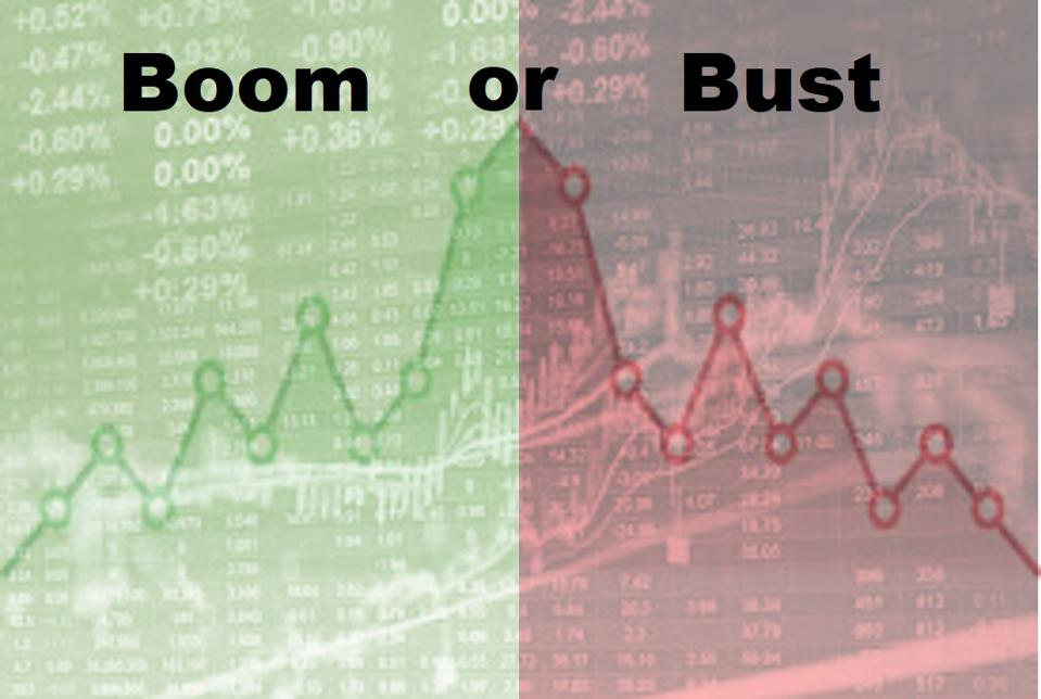 Nasdaq background with growth and loss charts