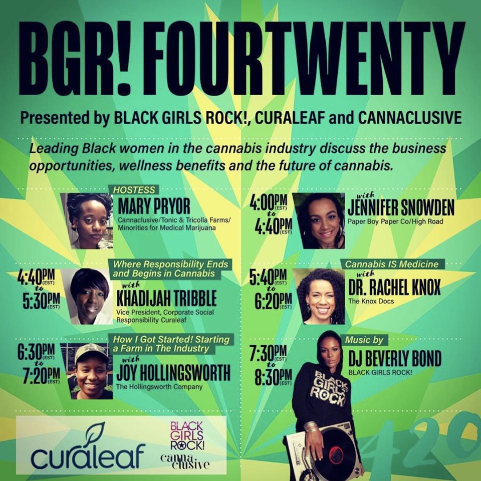 BGR Fourtwenty poster for curaleaf.