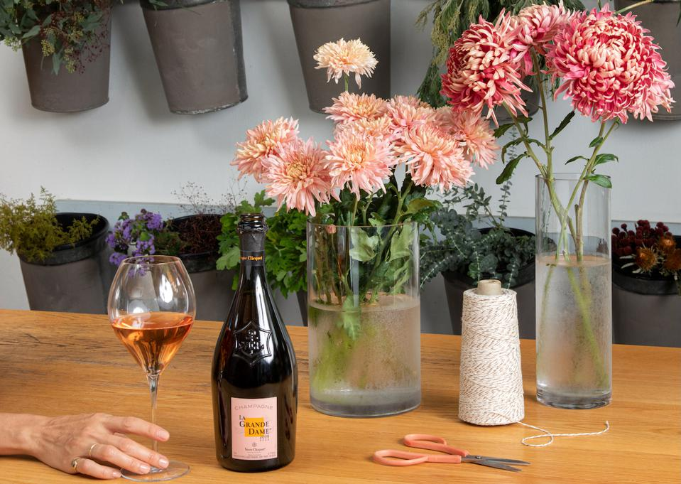 Veuve Clicquot La Grand Dame Rosé Champagne Mother's Day Gift Guide Luxury Wine Flowers
