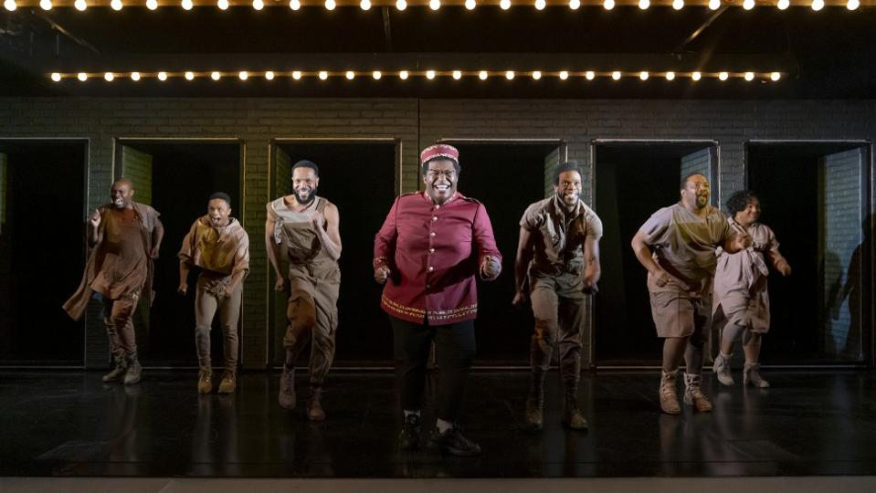 Larry Owens and company in the musical 'A Strange Loop', nominated for six Drama Desk Awards.