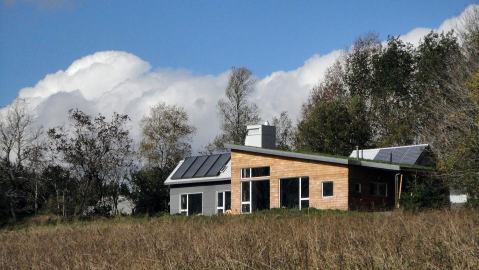 This 1500 sq ft house in Nova Scotia, Canada.