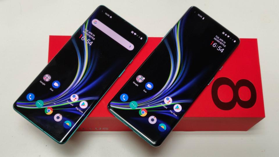 The OnePlus 8 family, launched earlier this year