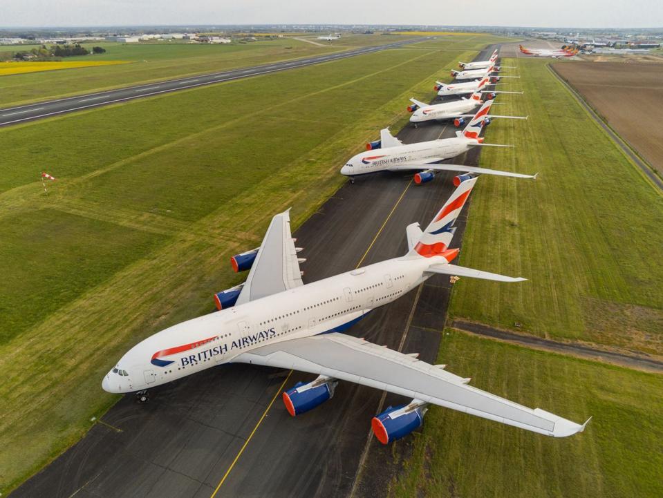 BA A380s