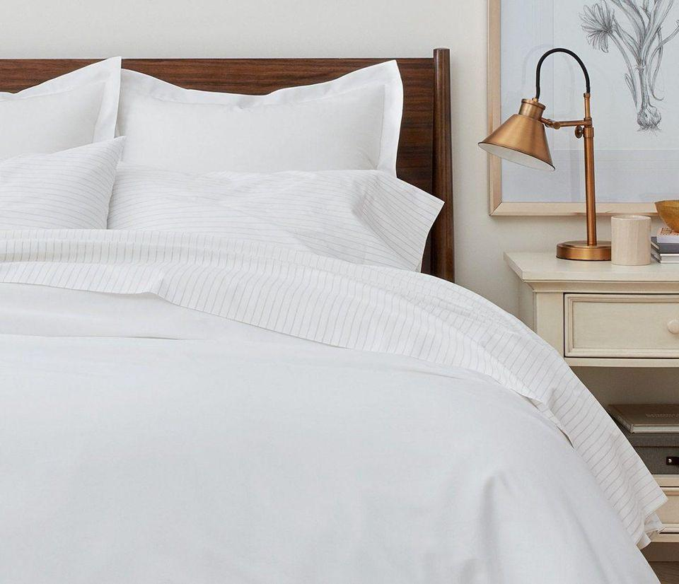 FEATHER /& STITCH NEW YORK Feather /& Stitch 500 Thread Count 100/% Cotton Sheet Set Stripe Sheets Soft Sateen Weave,Full Sheets White Full Deep Pockets,Hotel Collection,Luxury Bedding Super Sale 100/% Cotton