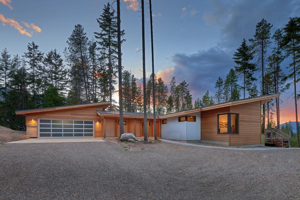 A 1500 Square foot house built with Timber frame and structural insulated panels (SIPs) designed by FabCab in Cle Elum, WA.
