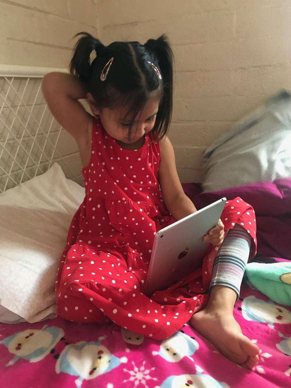 """Katy Kole de Peralta, """"5 yo old has first class via Zoom weeks after Tempe school closure,"""" A Journal of the Plague Year: an Archive of CoVid19. https://covid19.omeka.net/items/show/954."""