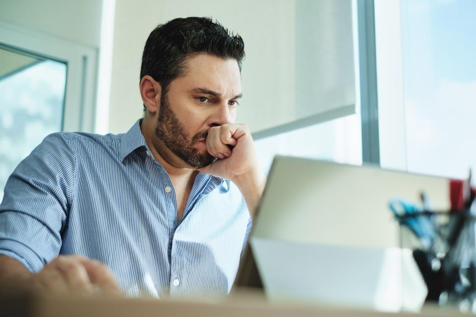 Worried student loan borrower