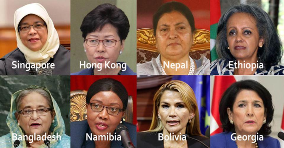 Eight women leaders of countries around the globe